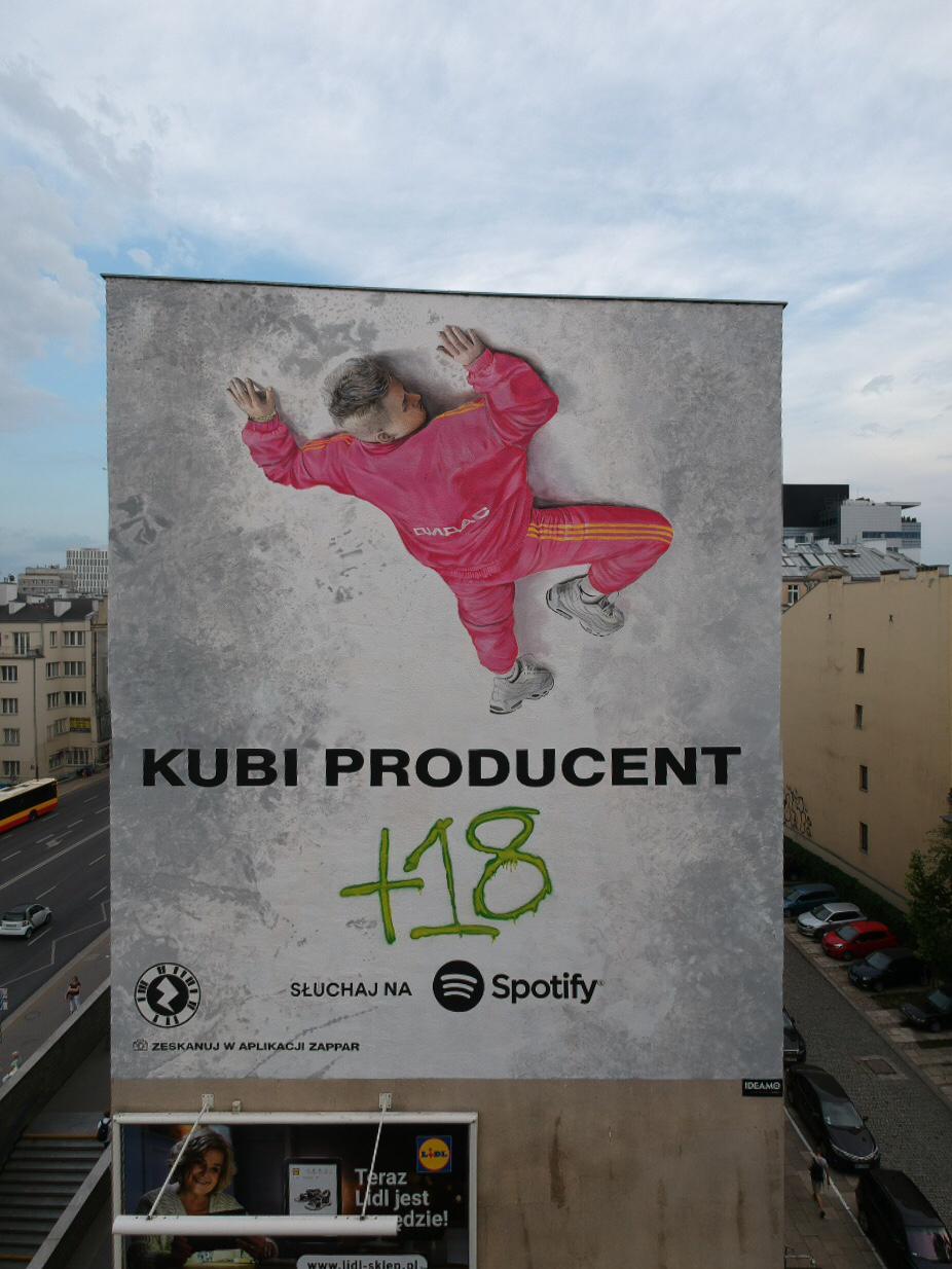 mural Kubiego Producenta w Warszawie