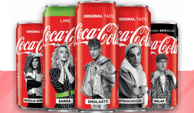Holak na limitowanej puszce Coca-Coli