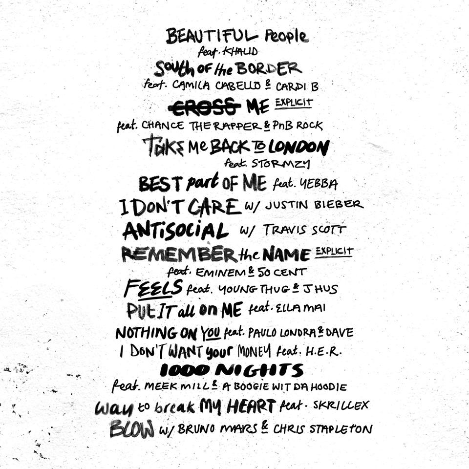 Ed Sheeran No. 6 Collaboration Project
