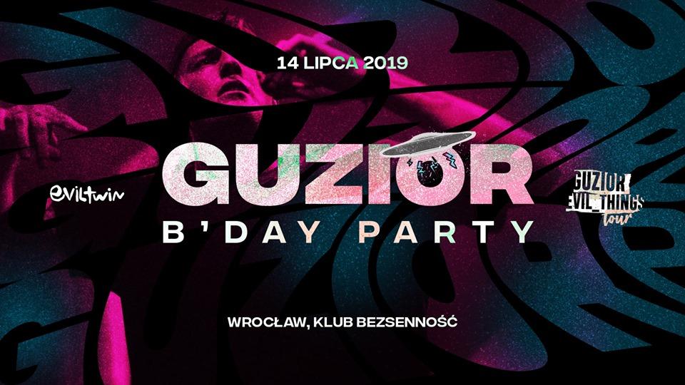 Guzior B'day Party Koncert Urodzinowy Wrocław bezsenność we Wrocławiu