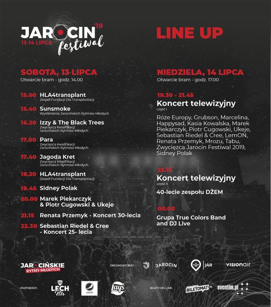 Jarocin Festival 2019 timetable, line-up