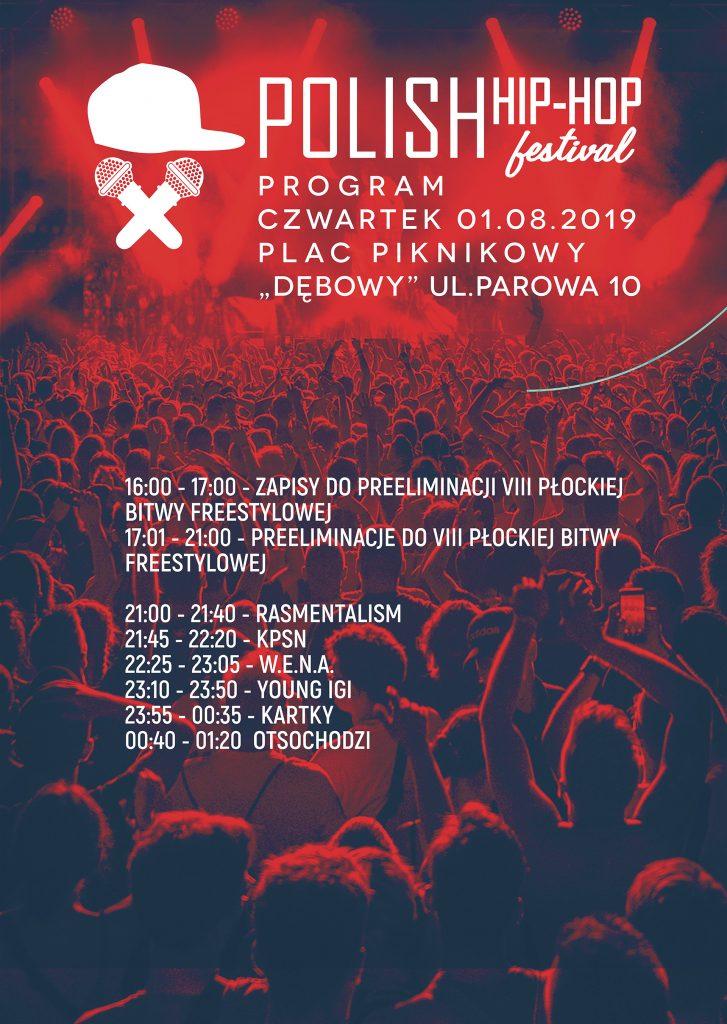 Polish Hip-Hop Festival 2019 - timetable czwartek 1 sierpnia