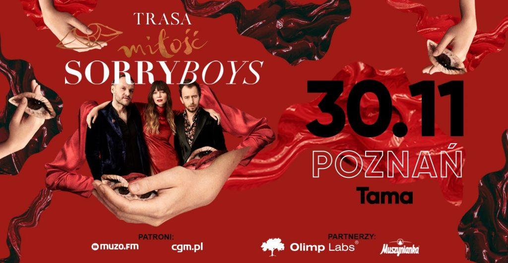 SORRY BOYS Trasa Miłość Poznań 30.11.2019