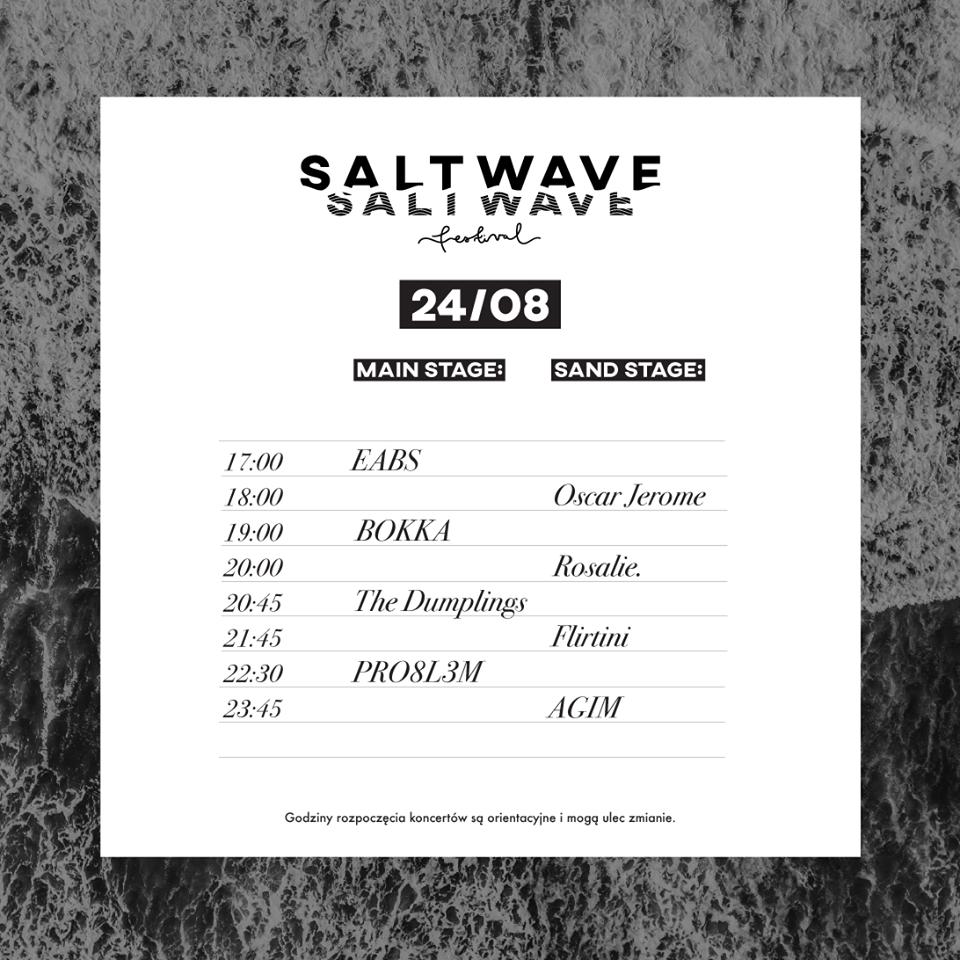 salt wave festival 2019 timetable sobota 24 sierpnia