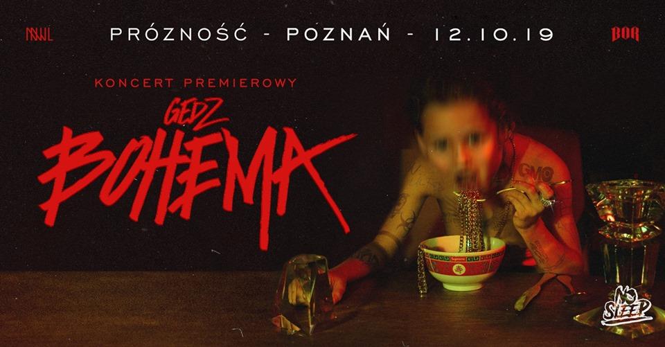 Gedz w Poznaniu Bohema Koncert Premierowy