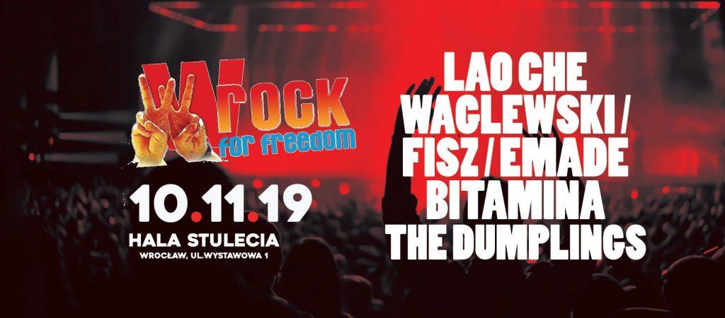 Jesienna edycja festiwalu wROCK for Freedom 2019 we Wrocławiu!