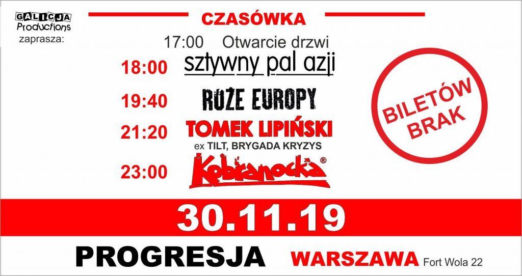 Kobranocka, Sztywny Pal Azji, Tomek Lipiński, Róże Europy