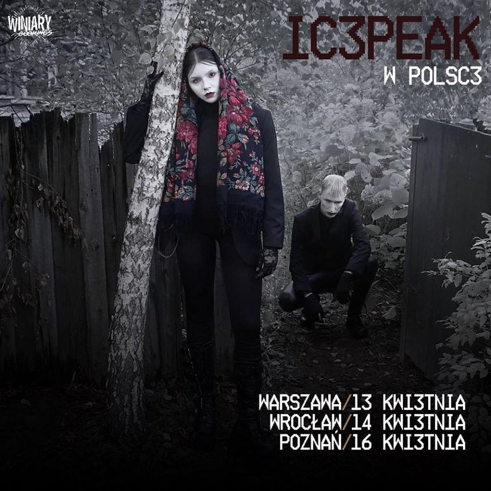 IC3PEAK na trzech koncertach w Polsce