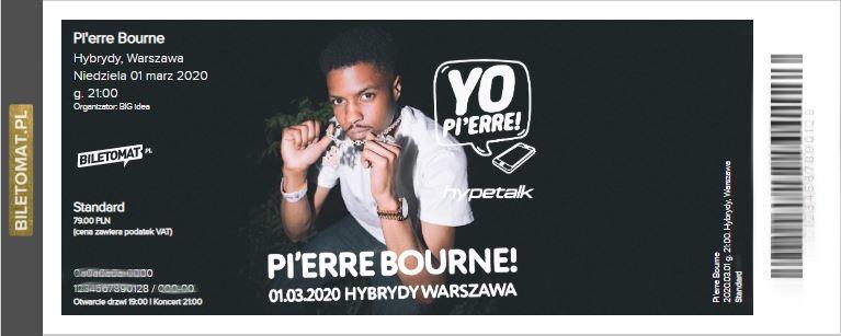 Pierre Bourne - bilet kolekcjonerski