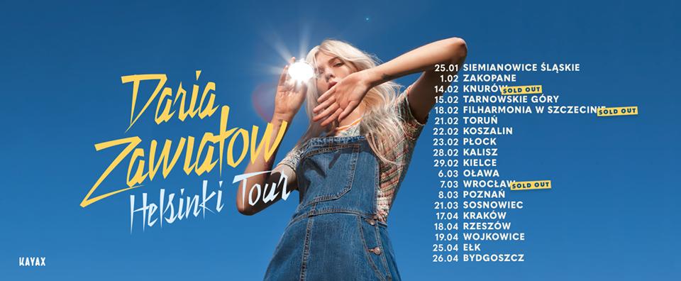 Daria Zawiałow koncerty Helsinki Tour 3.0