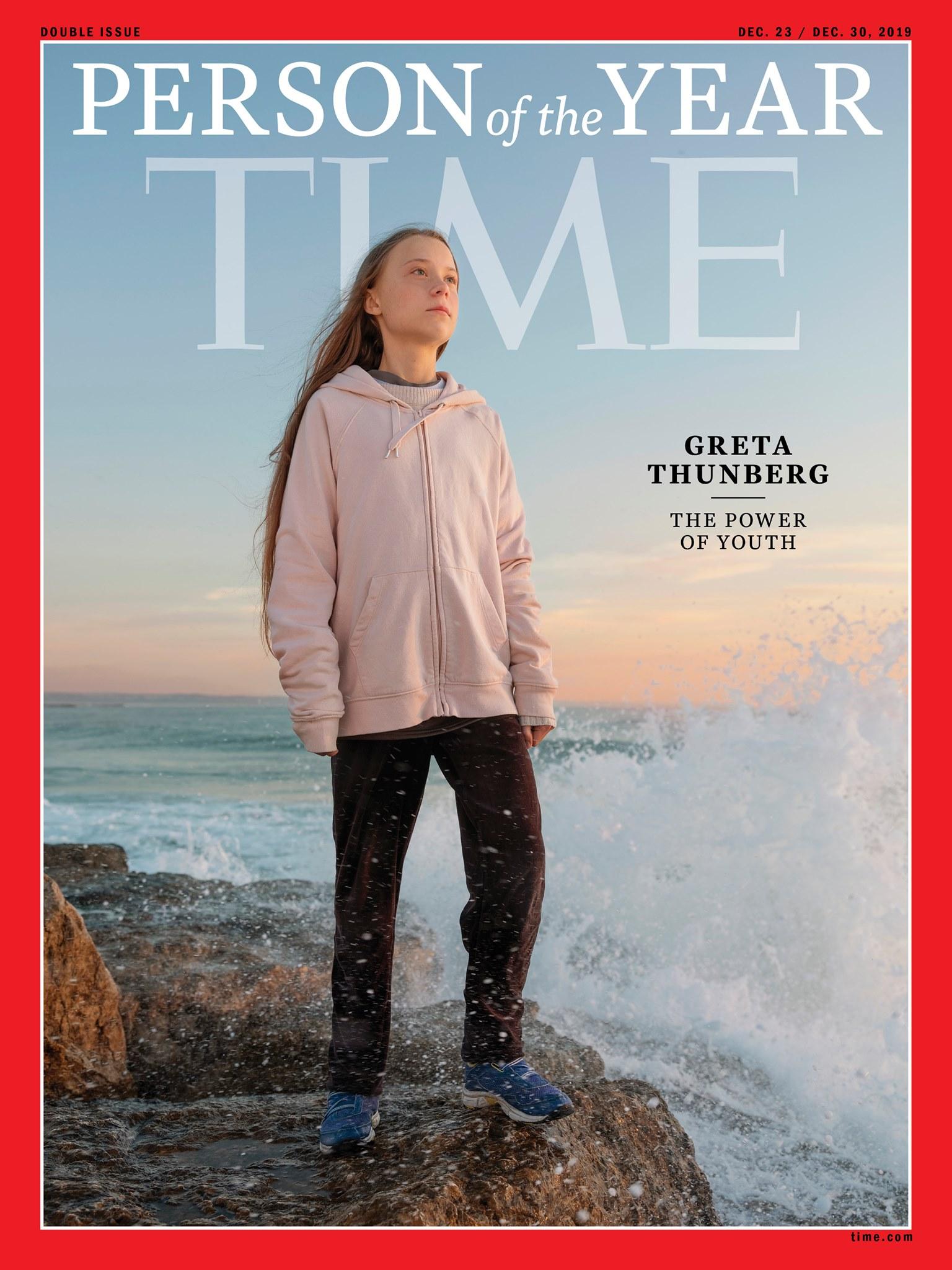 Greta Thunberg na okładce Time