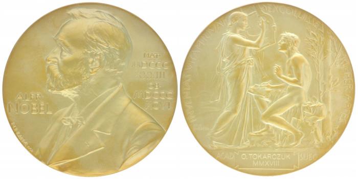 Medal Noblowski Olgi Tokarczuk na WOŚP