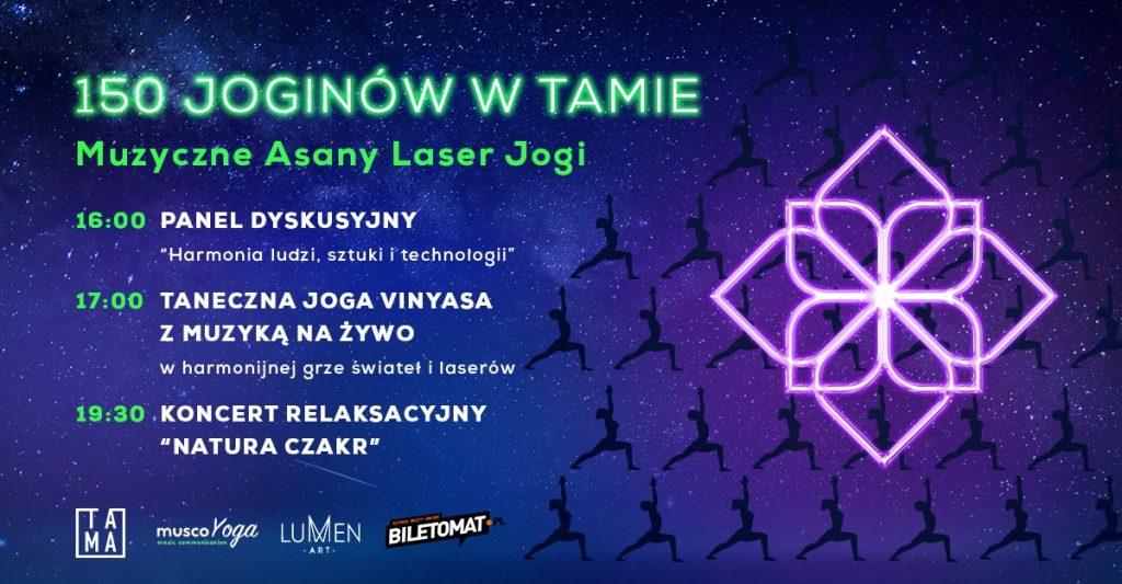 150 Joginów w Tamie | Muzyczne Asany Laser Jogi