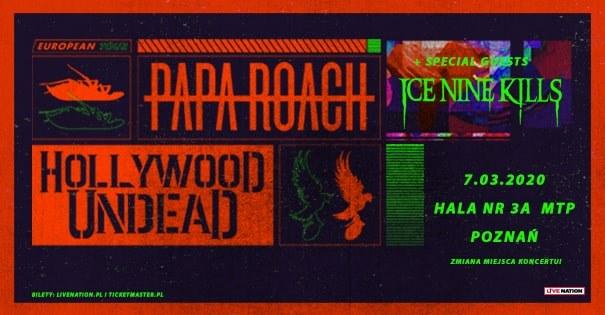 Papa Roach i Hollywood Undead - koncert w Polsce