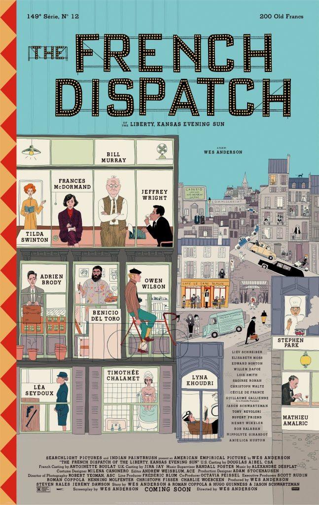 The French Dispatch - plakat filmu