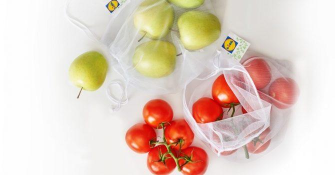 Lidl wprowadza wielorazowe woreczki na warzywa i owoce