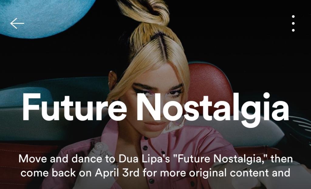 Dua Lipa Future Nostalgia