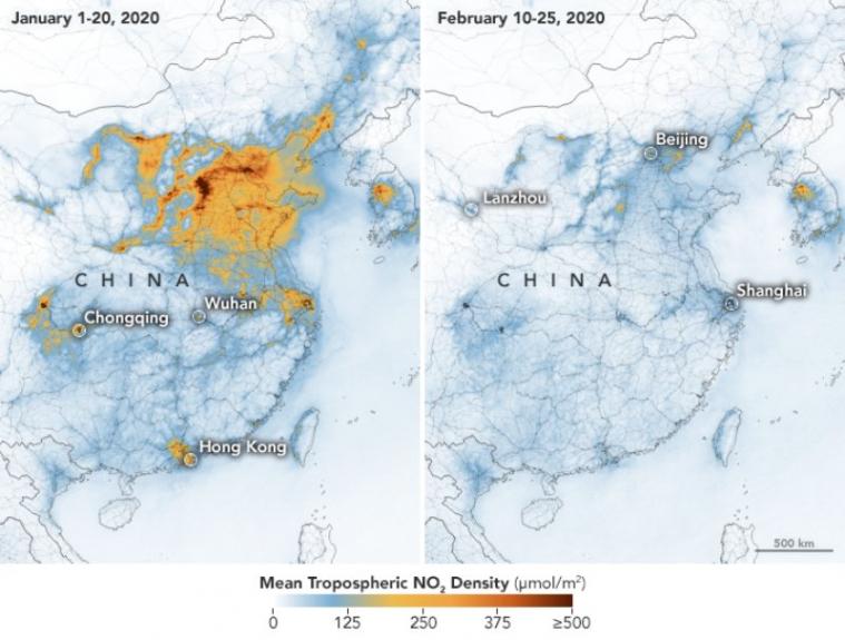 kwarantanna - jakość powietrza w chinach