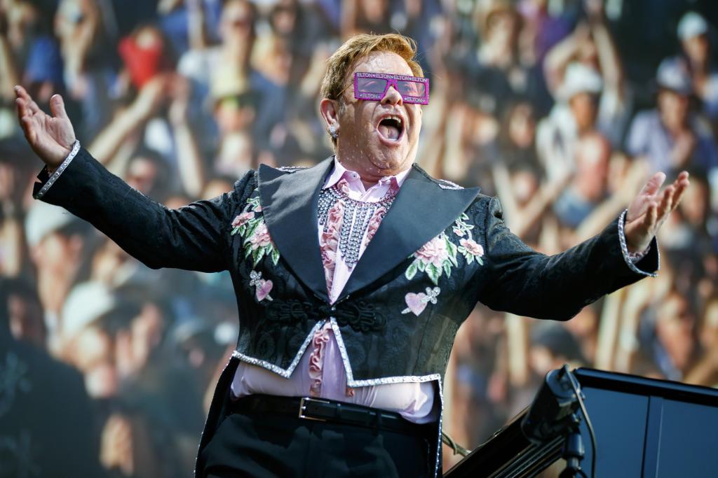 iHeartRadio Living Room Concert For America Elton John