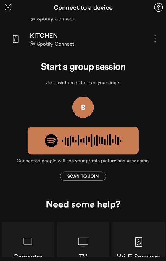 Spotify sesja grupowa