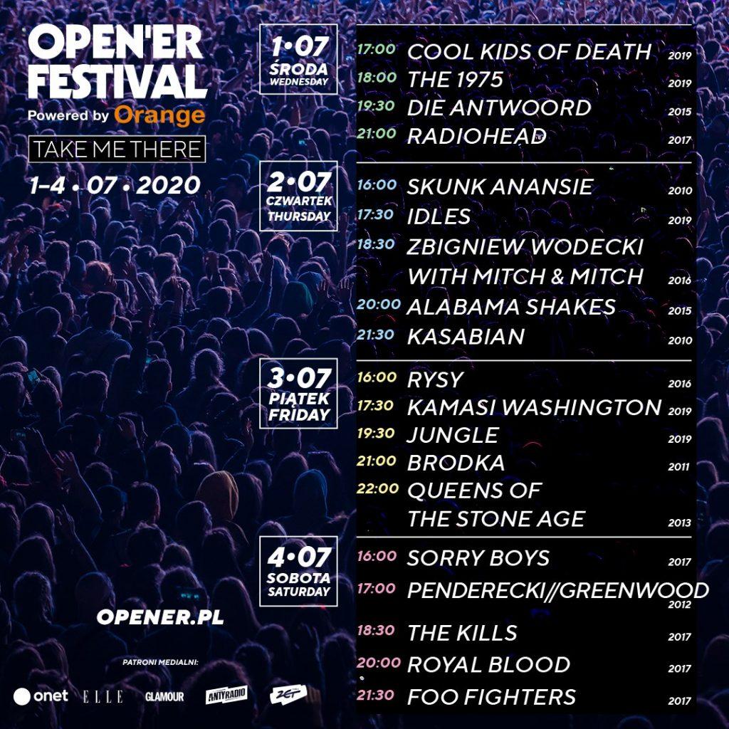Open'er 2020 koncerty online