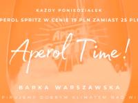 Poniedziałek nad Wisłą: Aperol TIME!