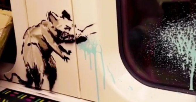 Banksy zachęca do noszenia maseczek