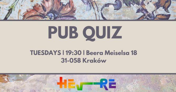 Tuesday Pub Quiz at Hevre