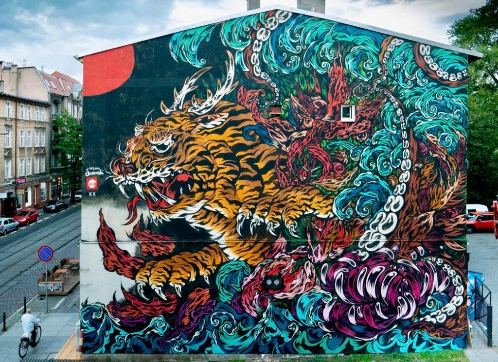 Street art mural poznań