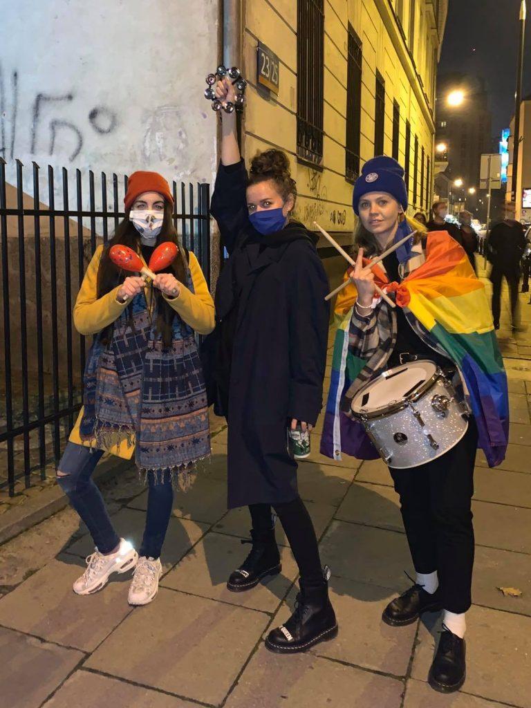 Kasia Lins protest