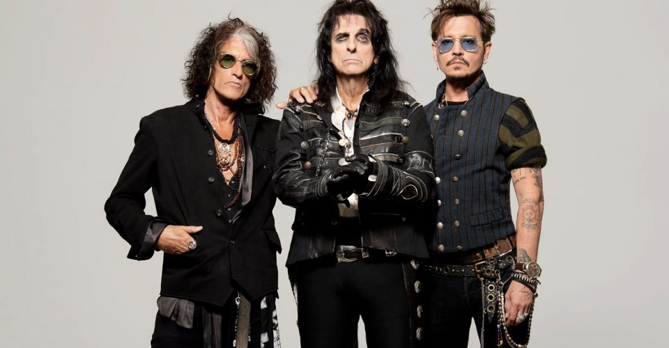 The Hollywood Vampires: Alice Cooper, Joe Perry, Johnny Depp