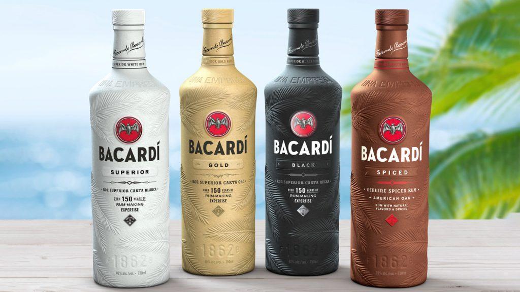 Papierowa butelka Bacardi