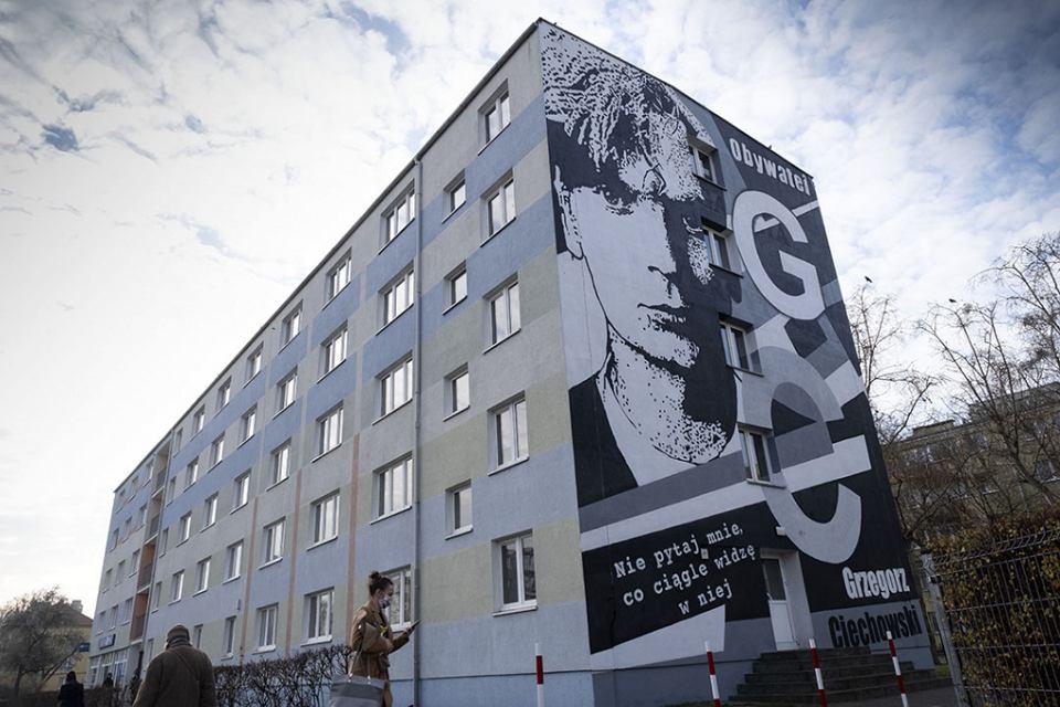Mural Grzegorz Ciechowski