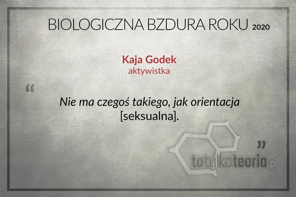 Biologiczna Bzdura Roku 2020 Kaja Godek
