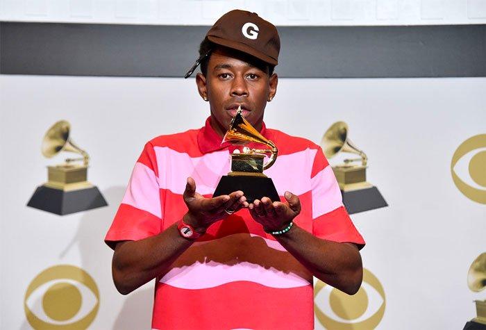 Tyler, The Creator ze statuetką Grammy