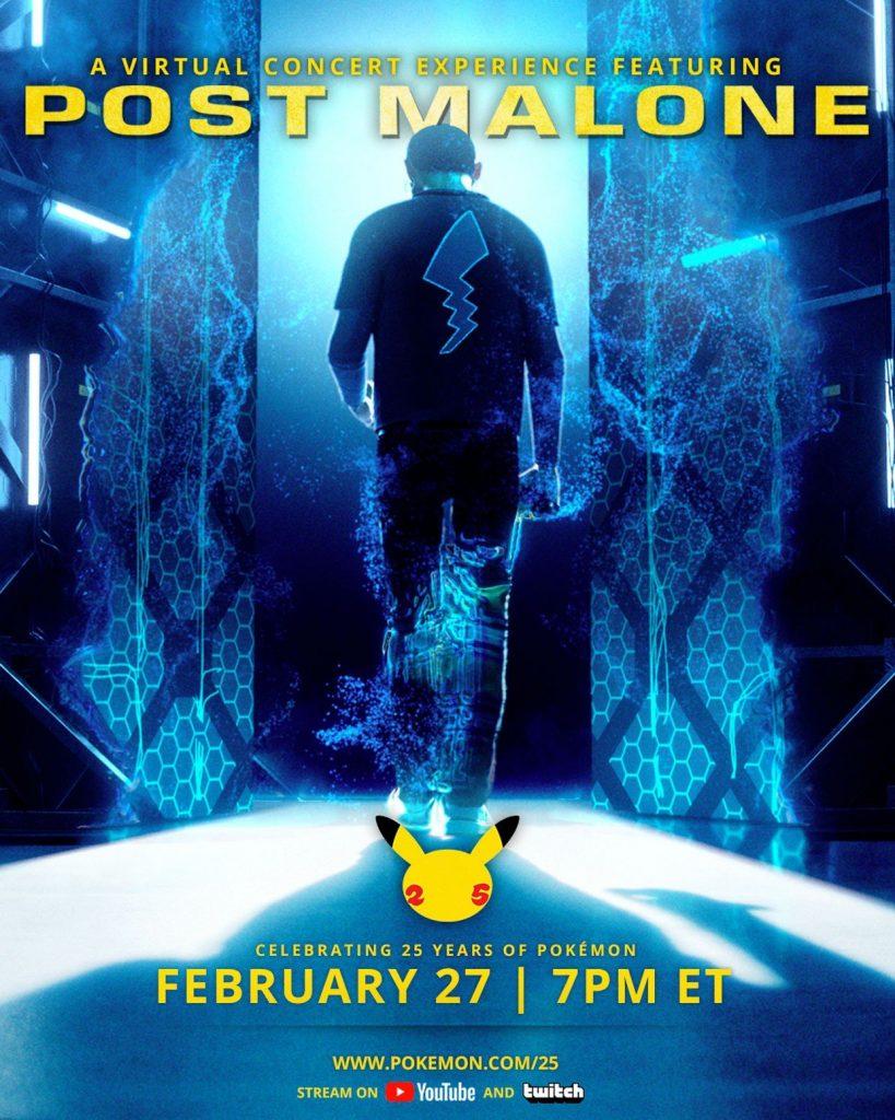 Post Malone zagra wirtualny koncert w świecie Pokemon