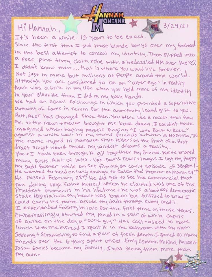 Miley Cyrus list do hannah Montana