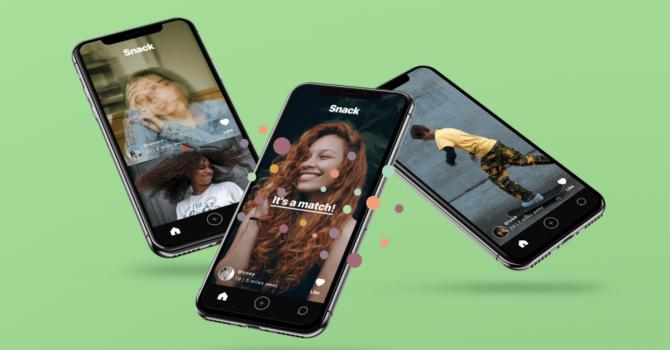 Nowa aplikacja Snack to połączenie Tindera i TikToka