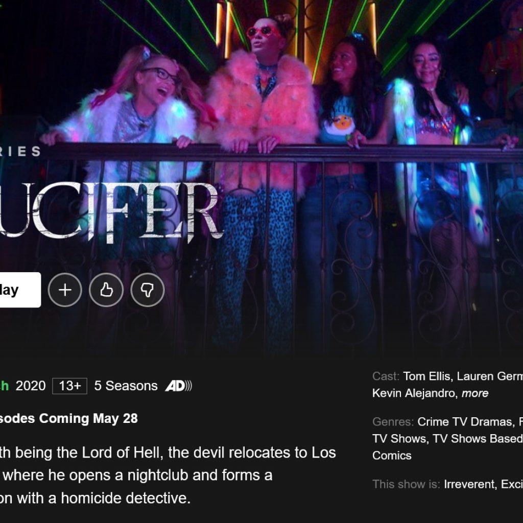 Lucyfer Netflix przypadkowo ujawnił datę premiery sezonu 5B