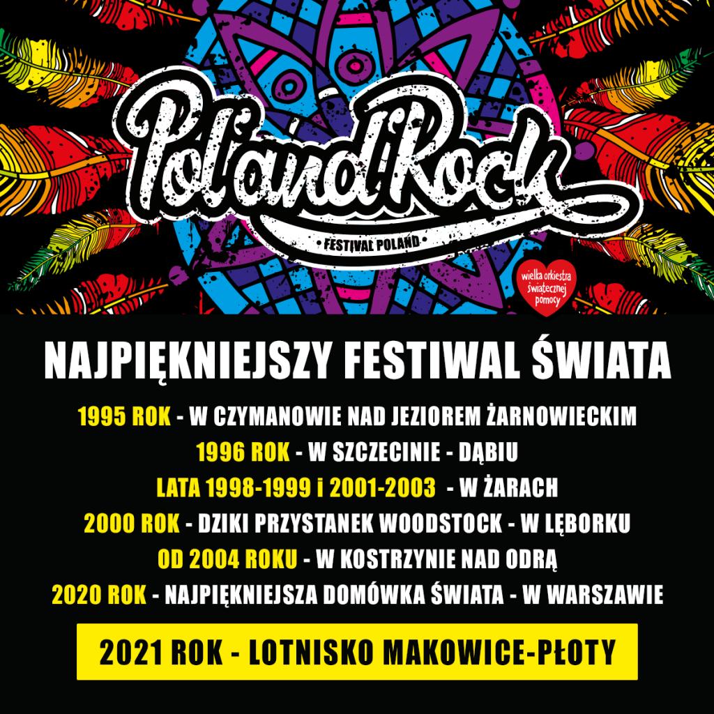 27. Pol'and'Rock 2021 nowa lokalizacja lotnisko Makowice Płoty