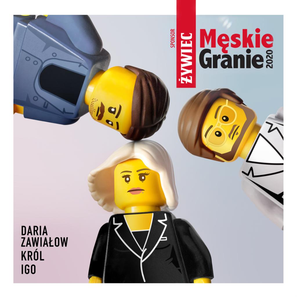 Męskie Granie 2020 LEGO okładki albumów instagram