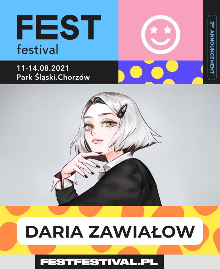 FEST Festival 2021 ogłoszenie Daria Zawiałow