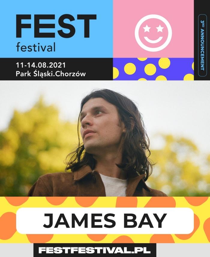 FEST Festival 2021 ogłoszenie James Bay