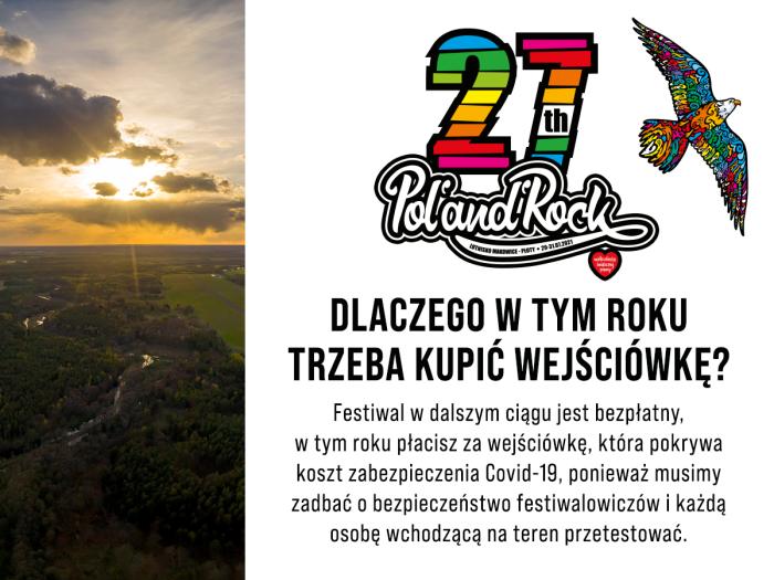 Pol'and'Rock 2021 bilety wejściówki