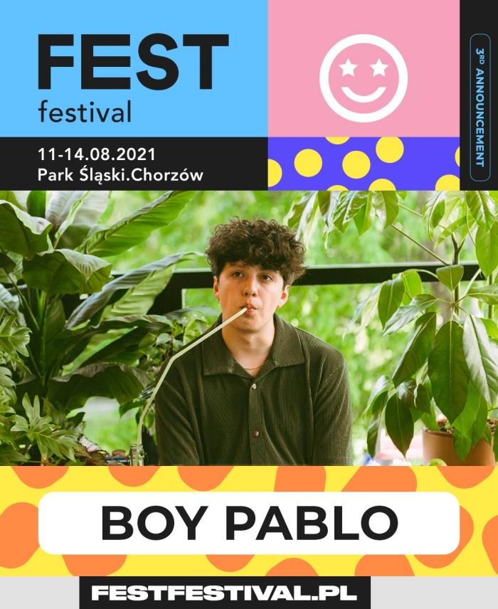 FEST Festival 2021 ogłoszenie boy pablo