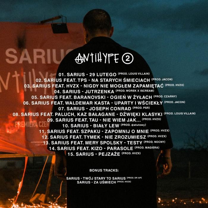 Sarius Antihype 2 tracklista albumu