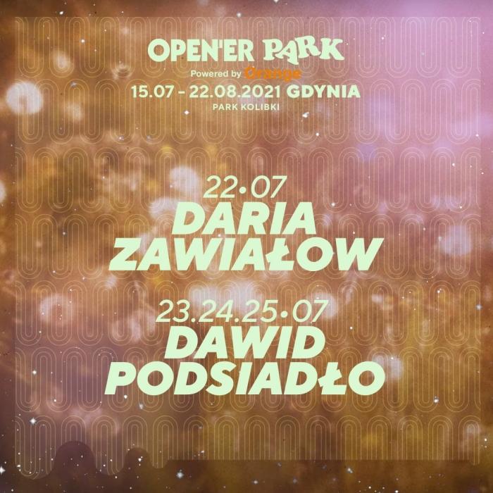 Open'er Park 2021, koncerty