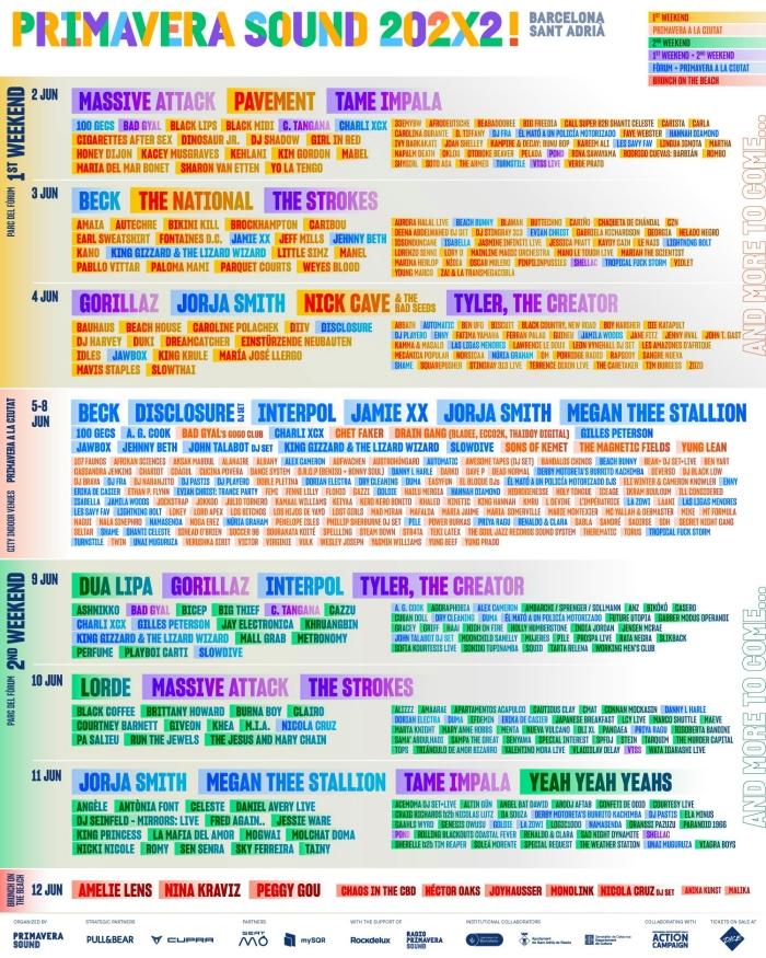 festiwal Primavera Sound 202X2 line-up kto zagra