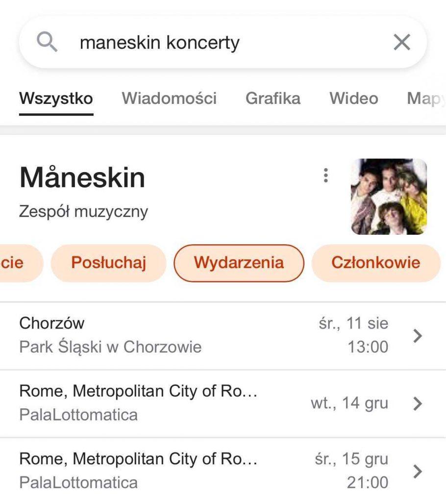 Måneskin koncert Polska Fest Festival
