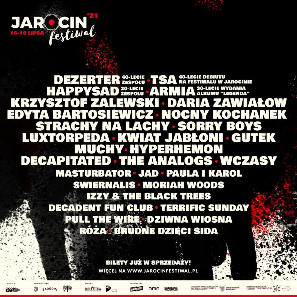 Jarocin Festiwal 2021 bilety line-up
